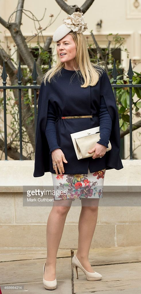 Autumn Phillips attends the Easter Service at St George's Chapel at Windsor Castle on April 5, 2015 in Windsor, England.  (Photo by Mark Cuthbert/UK Press via Getty Images)
