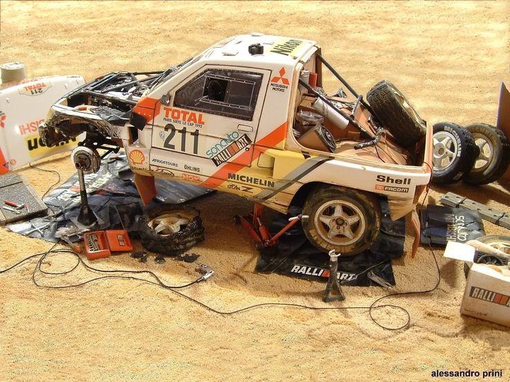 1992 Paris Dakar Mitsubishi Pajero Model