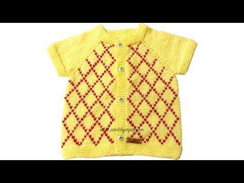 İşlemeli Bebek Yeleği Nasıl Yapılır? (Baştan Sona Anlatım) - örgü modelleri, knitting - YouTube
