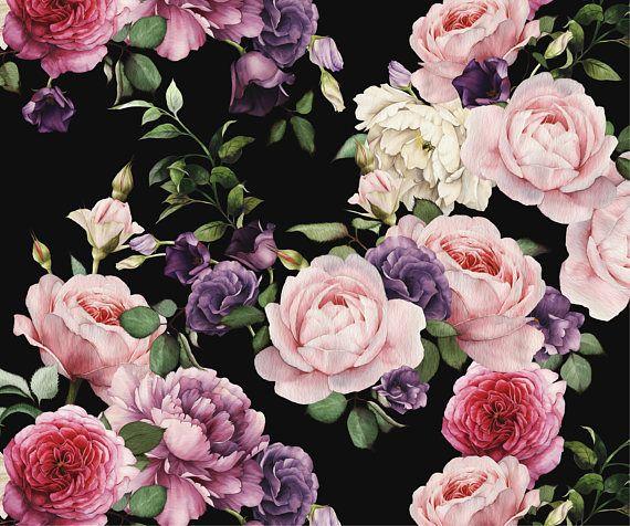 Best 25+ Black Floral Wallpaper Ideas On Pinterest