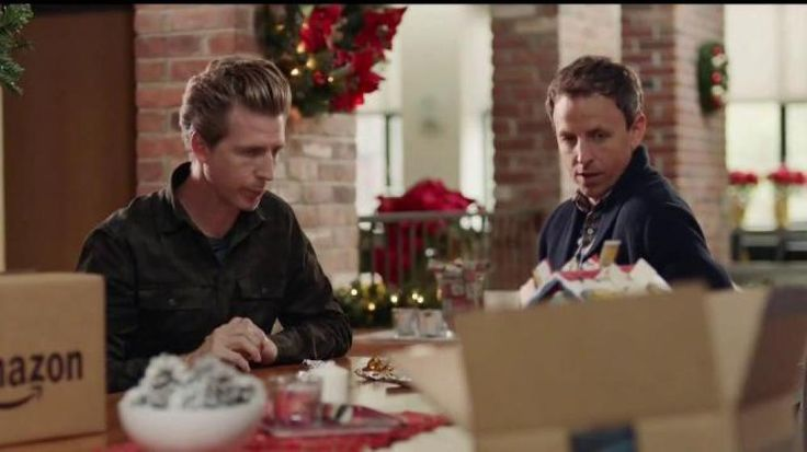 Late night show host Seth Meyers and his brother Josh are eating chocolates in Seth's holiday-decorated home. Seth purchased what he knows his wife wants for a gift (since she told him beforehand) but they are both surprised when she returns home and asks them if the baby's advent calendar arrived from Amazon. Instead of eating the snacks in another box that was delivered, they ate all the candy from the advent calendar. While they hide the evidence, Seth quickly reorders the calendar…