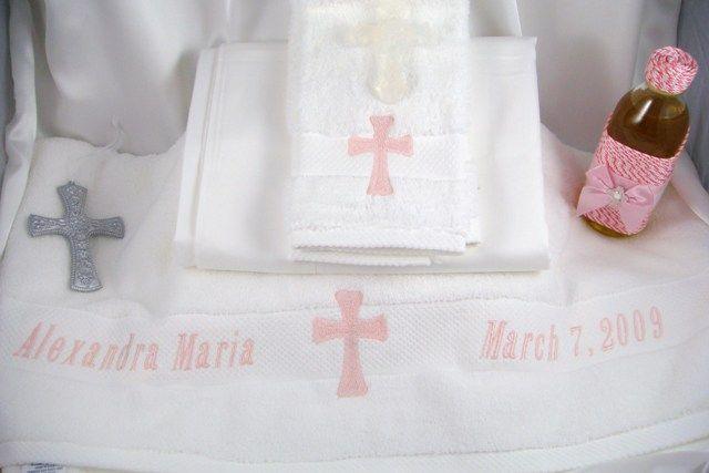 Greek Orthodox Baptism Towel oil set
