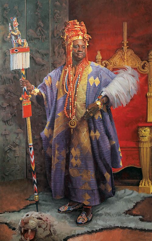 John Howard Sanden, a famous portrait artist, has a list of sitters that ranges from African royalty to US Presidents.