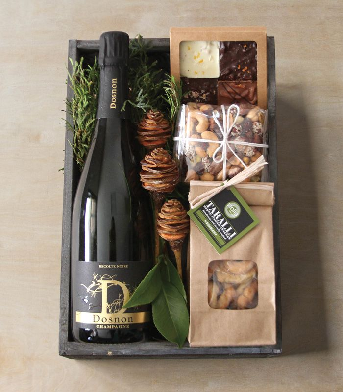 24 Sparkling Crate: Winston Flowers' Gourmet Gift Collection.