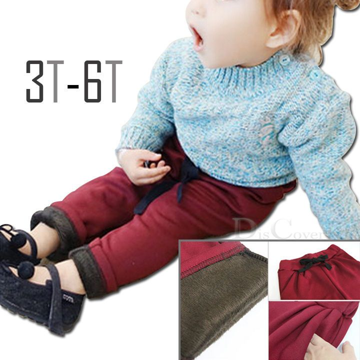 New Girls Kids Winter Warm Pants Thick Leggings Clothes 3-6T #DCKR #Bottoms #Leggings