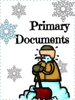 Needs some good snow vibes? Use this ELA lesson using primary documents about a blizzard! This Common Core aligned literacy lesson uses primary texts with text based questions. The primary text is a first hand account of a blizzard in 1938 and a photograph of a New York snowstorm from 1908.