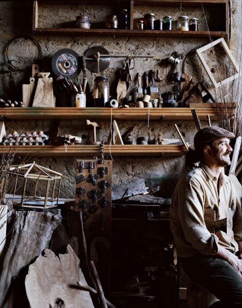 Andrea Brugi's workshop. photo by Ditte Isager. styling by Christine Rudolph.Artists Studios, Workshop, Eggs, Woodworking Shops, Work Spaces, Workspaces, Portraits Photography, Andrea Brugi, Wood Shops