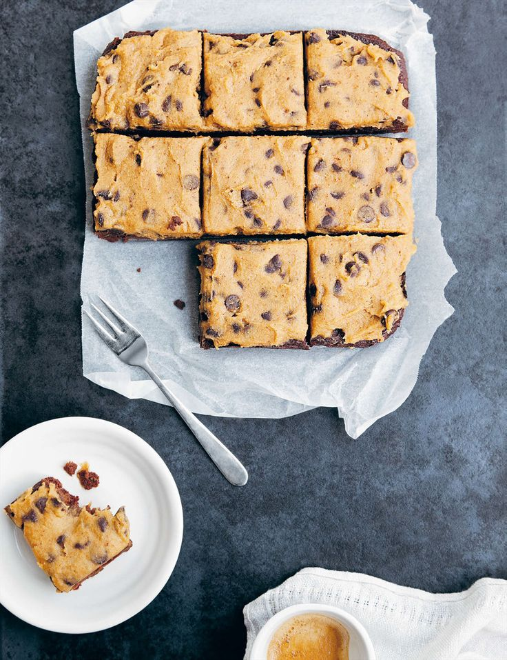 Sweet potato brownies with chickpea cookie dough recipe from Kenko Kitchen by Kate Bradley | Cooked