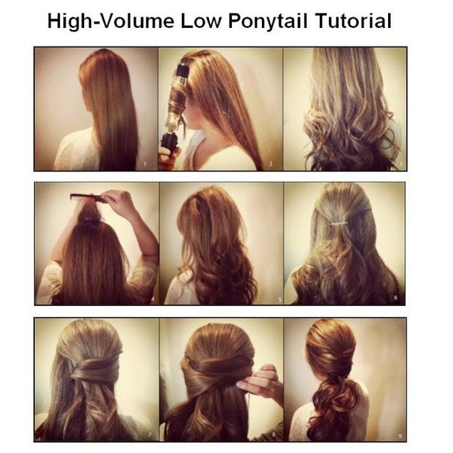 High-Volume Low Ponytail Tutorial
