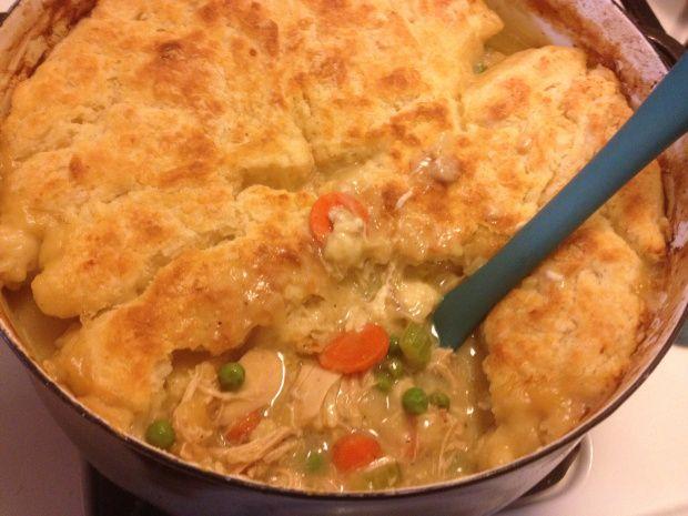 chicken pot pie with buttermilk biscuit crust | Brooklyn Homemaker