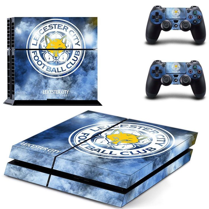 Leicester city FC design decal for PS4 console skin sticker