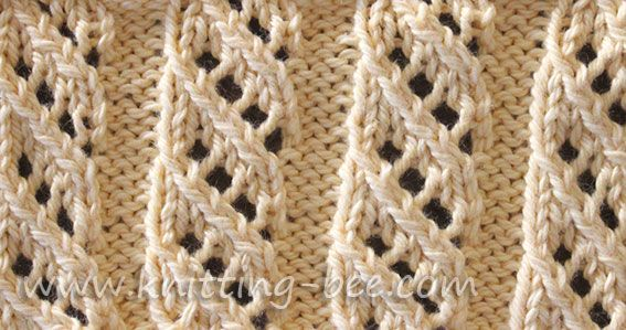 Rib Patterns Knitting : Free Oblique Openwork Rib Stitch knitting pattern knit stitch Pinterest ...