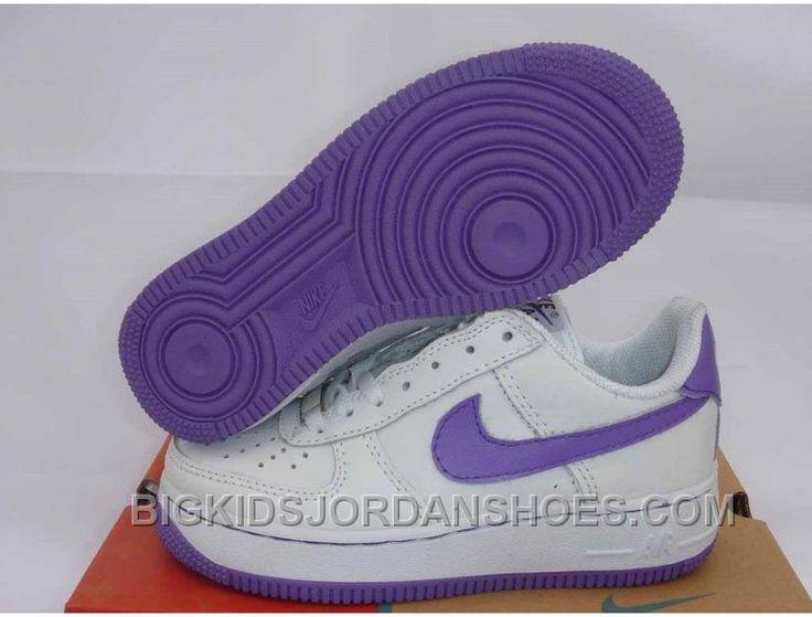 http://www.bigkidsjordanshoes.com/hot-kids-nike-air-force-1-low-white-purple.html HOT KIDS NIKE AIR FORCE 1 LOW WHITE PURPLE Only $85.00 , Free Shipping!