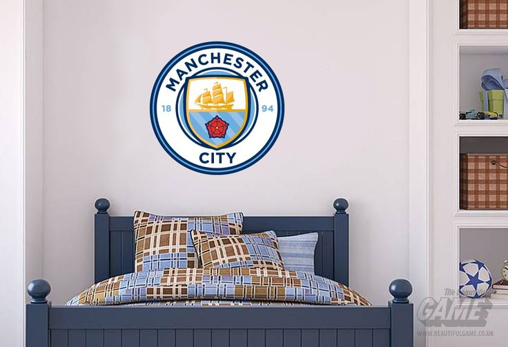 Manchester City Official Crest Set Wall Stickers