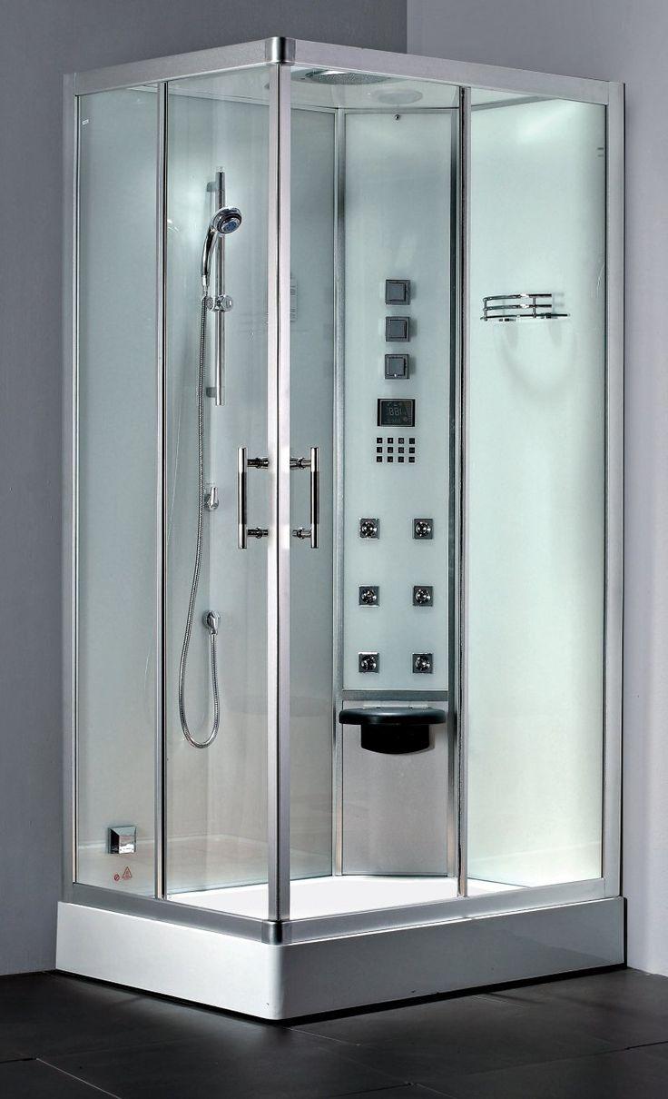 Projeto flexível e funcionalidade completa    - Disponível na versão Direita ou Esquerda   - Amplo chuveiro de teto   - Ducha manual massageadora com 5 opções de jatos   - 6 jatos reguláveis de hidromassagem vertical   - Banco basculante   - Sauna úmida com controle de tempo e temperatura (P. 3Kw)   - Sistema de limpeza da sauna úmida   - Aromaterapia   - Cromoterapia (6 opções de cores estáticas ou cíclicas)   - Iluminação interna branca por LEDs   - Painel de controle Touch Screen…