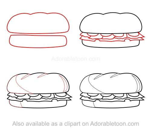 how to draw a sandwich cupcake art pinterest how to
