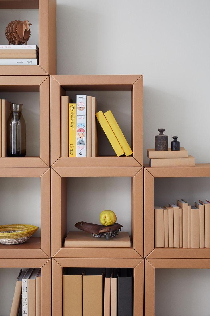 Cardboard Furniture From Berlin Book Shelf All Of Carton Diy House Cardboard Berlin Book Cardboard Mobilier De Salon Meubles En Carton Meuble En Carton
