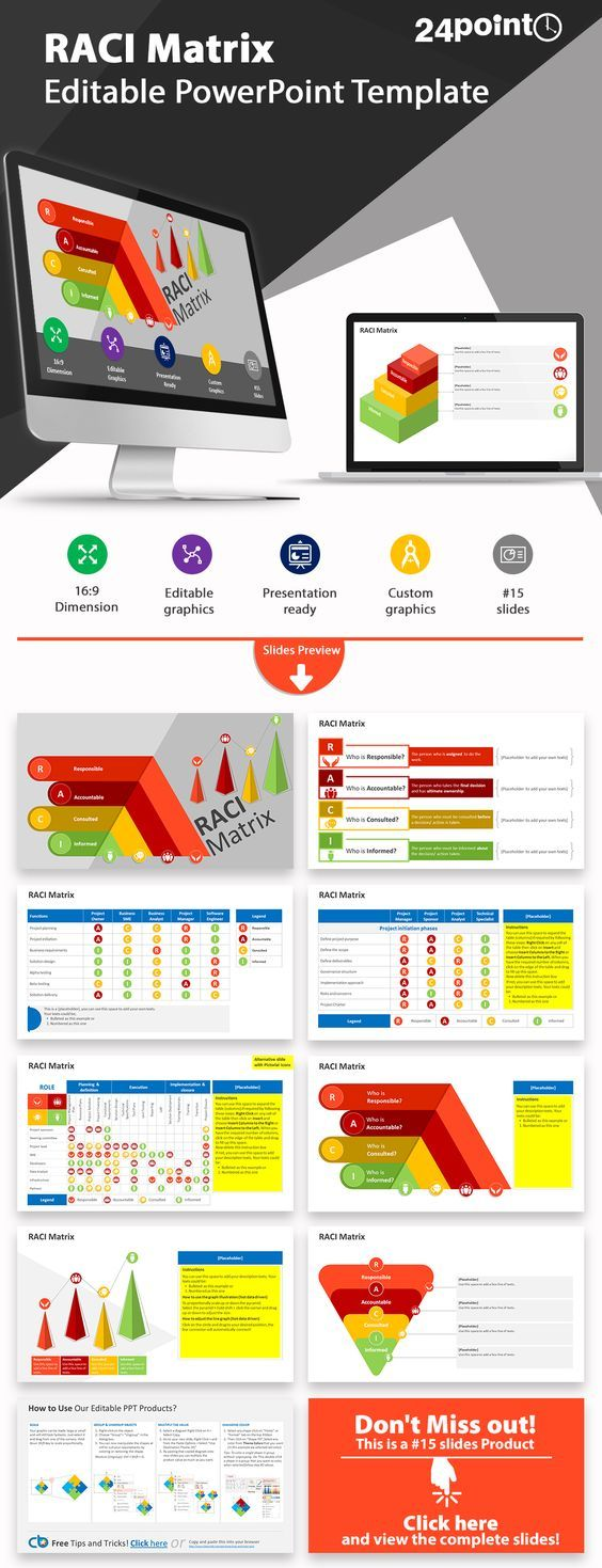 RACI Matrix | Model: Editable PowerPoint Template