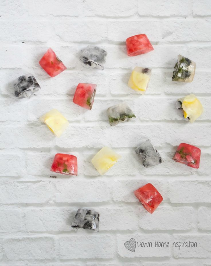 Gourmet Flavored Ice Cubes - Down Home Inspiration
