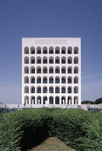Architecture = repetition. The Palazzo delle Civilta Italiana by Giovanni Guerrini, Ernesto Bruno La Padula and Mario Romano (1938-43) by German photographer Hagen Stier.