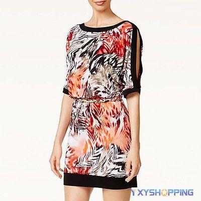Bohemian-Womens-Animal-Print-Cut-Out-Shoulder-Party-Cocktail-Short-Mini-Dresses