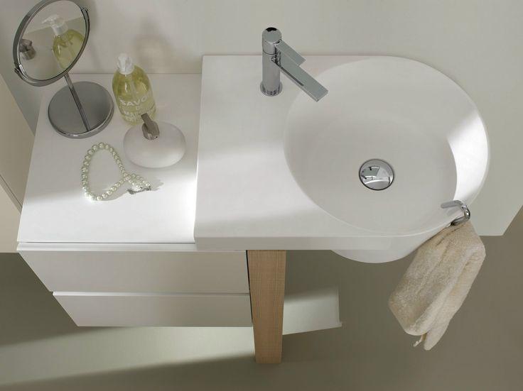 Comp C 08 cm 94 x 42 rovere ecru lavabo in teknorit bianco