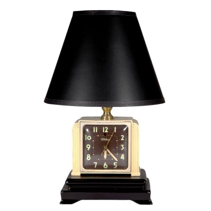 Vintage Midcentury Alarm Clock Lamp