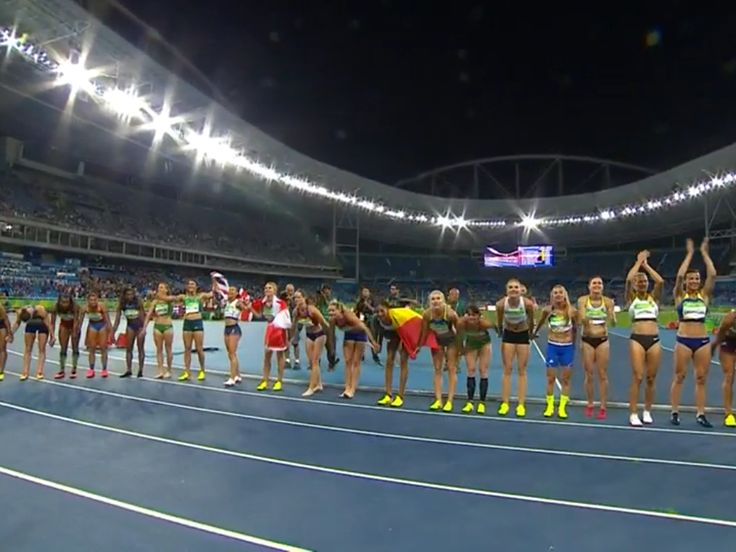 Heptathlon Final, gold to Nafi Thiam of Belgium, silver to Jessica Ennis Hill of Great Britain.