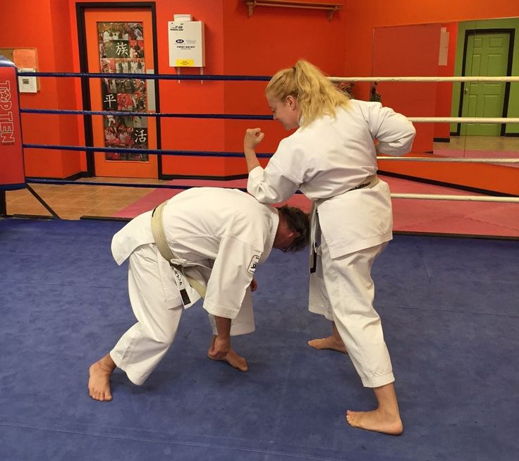 The self-defence technique I have chosen today is an in-line wrist grab, this is a very common action to be grabbed and pulled forwards, step 7.