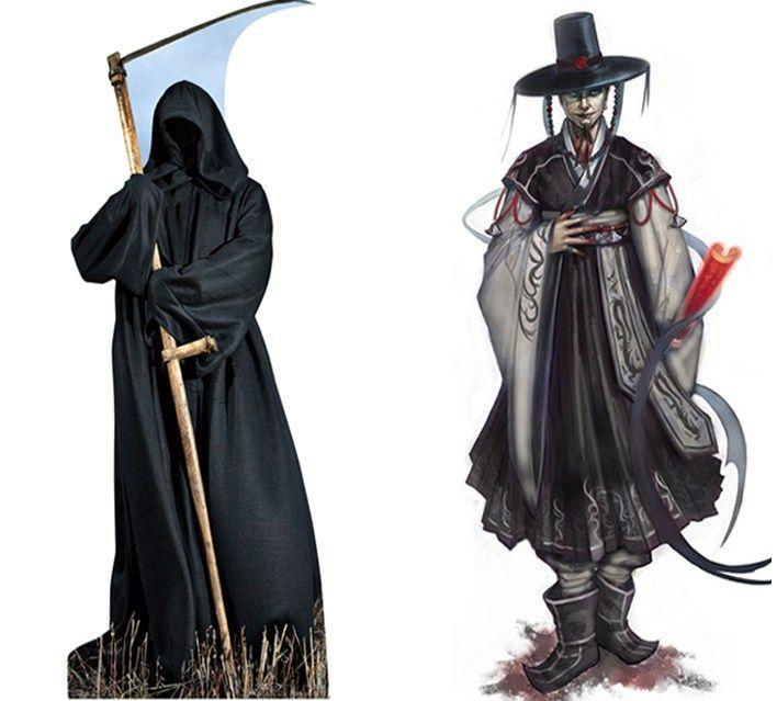 korean-versus-western-grim-reaper