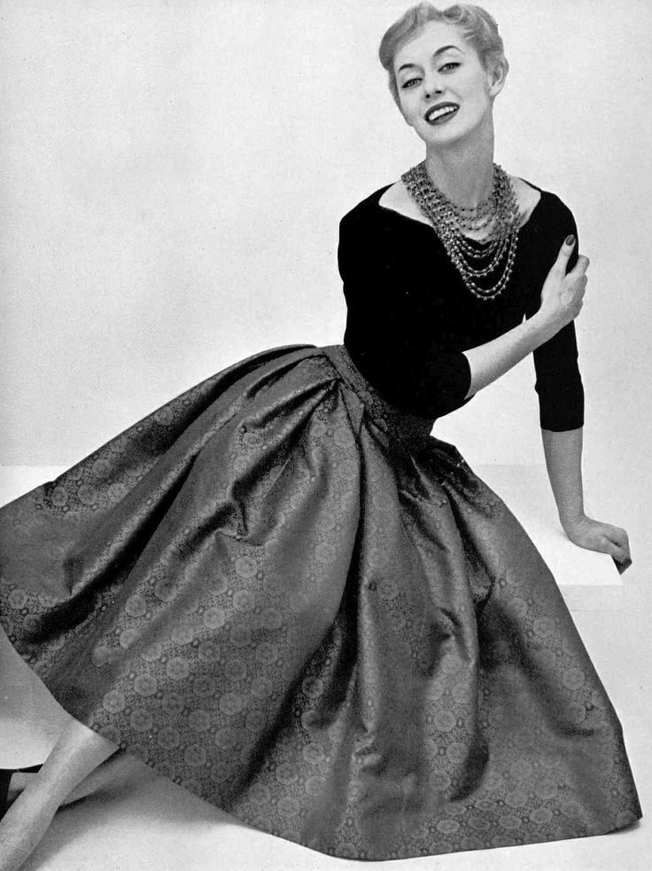 1950's fashion - christian dior  photo by pottier - 1955