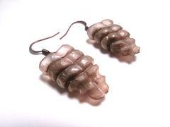 """Rattlesnake """"Rattler Tail"""" earrings. Made from real Rattlesnake tail segments."""
