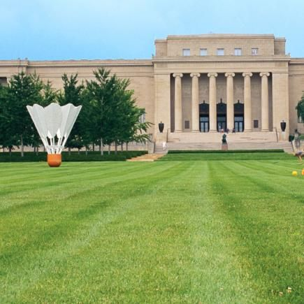Top Things to Do in Kansas City | Midwest Living - Nelson Art Gallery with the iconic shuttlecocks on the lawn