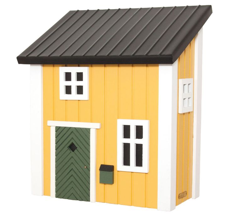 Briefkasten Holz gelb Holzbriefkasten, Multiholk, Schwedenstil neu, abschließbar