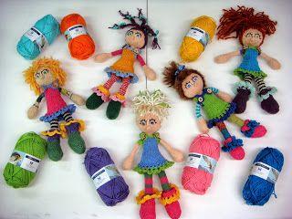 """Will's Wools Arne Carlos """"Hippie Popjes"""" door Sientje! Arne Carlos """"Hippy Dolls"""" by Sientje!"""