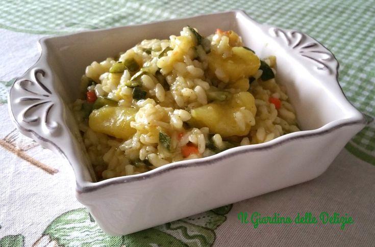 Risotto prosciutto patate e zucchine un primo piatto che piacerà tanto anche ai più piccoli, delizioso, potrete arricchirlo anche con formaggio