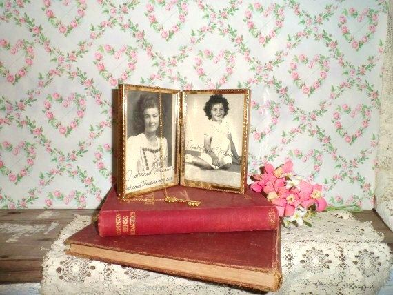 Double 3.5 x 5 Metal Picture Frame Set-Cool by OrphanedTreasure