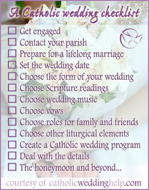It's new, it's fresh, it's beautiful! Visit CatholicWeddingHelp.com -- newly organized, redesigned and with great new features for anyone who wants to plan a beautiful, 100% Catholic wedding. Please share with all your engaged (or about-to-be-engaged) family & friends!