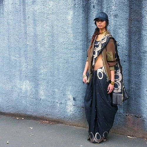 30 Gorgeous Sari Outfits— Traditional, Modern, & Unexpected  #refinery29  http://www.refinery29.com/sari-outfits#slide6  A modern take on the sari.