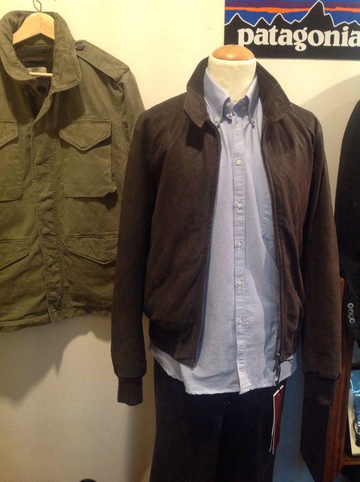 Giacca di pelle Stewart camicia oxford di Marrin  ,Mimetica San Francisco Romano Ridolfi