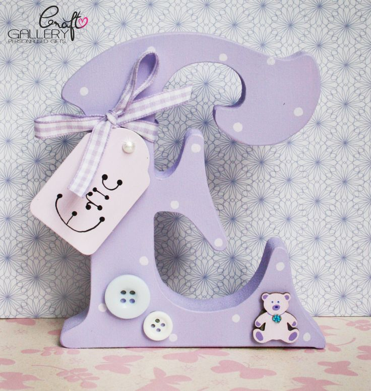 Made by CraftGallery... https://www.facebook.com/CraftGalleryPersonalisedGifts Handmade Personalised Freestanding letter in pink with pink buttons, Handmade letter, keepsake, personalise gift, personalised decorations, home decor