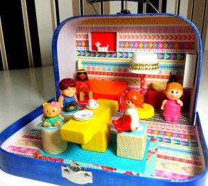 DIY Puppenstube zum Mitnehmen im koffer basteln