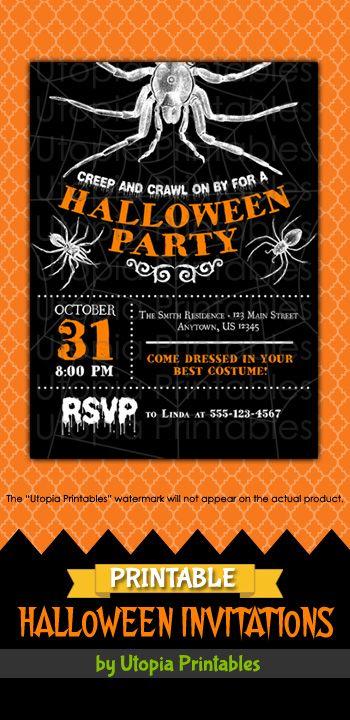 14 best Printable Halloween Invitations images on Pinterest - halloween invitation template
