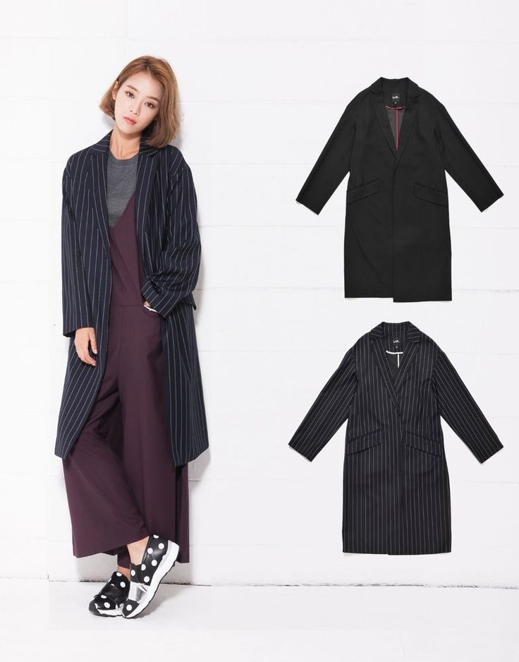 LAP Womens STRIPE LONG JACKET 2 Colors Size S, M (AF4WCF00) #LAP #LONGJACKET