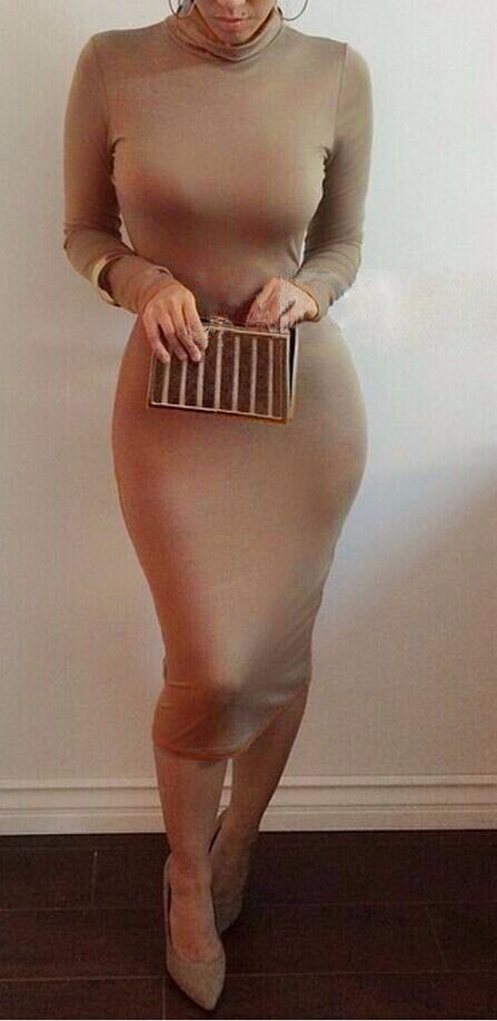 Casual Slim Pencil Tunic Bandage Bodycon Dress