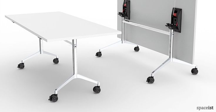 UR White Stackable Wheeled Folding Table ORDER NOW FROM
