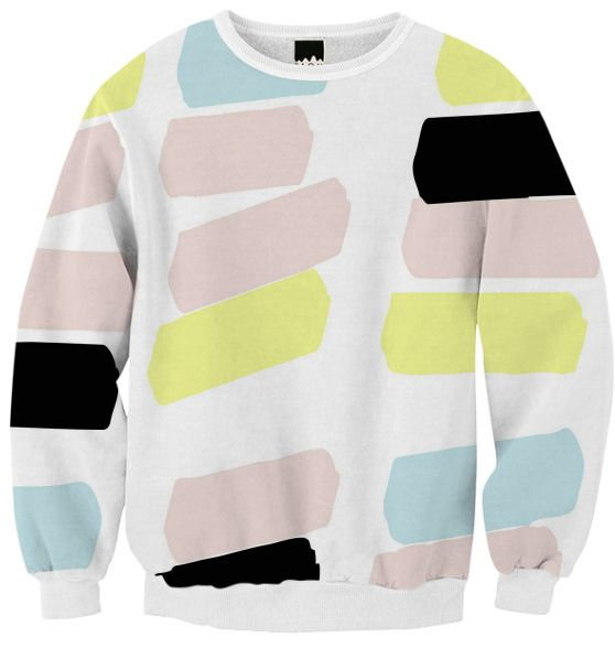 Ribbed Sweatshirt Pastel Color by gonpart