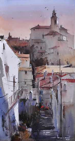 First Sunlight, Spain by Eugen Chisnicean  ~ 60cm x 30cm
