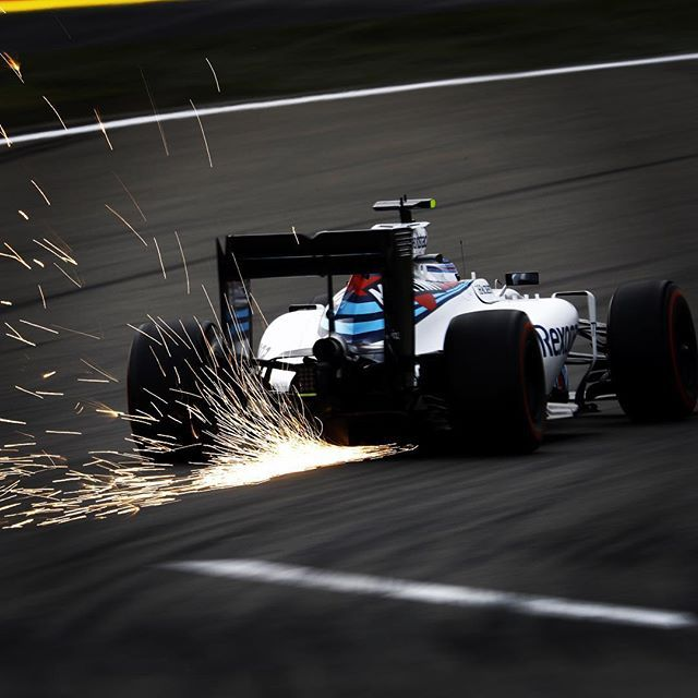 Sparks flying for @valtteribottas in qualifying for the #ChineseGP
