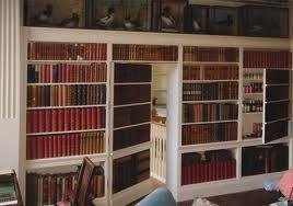 Built-in Bookcase with hidden doorSecret Bookcas, Bookcase Door, Bookcas Doors, Hidden Doors, Secret Passageway, Secret Doors, Nancy Drew Books, Secret Rooms, Bookcases Doors